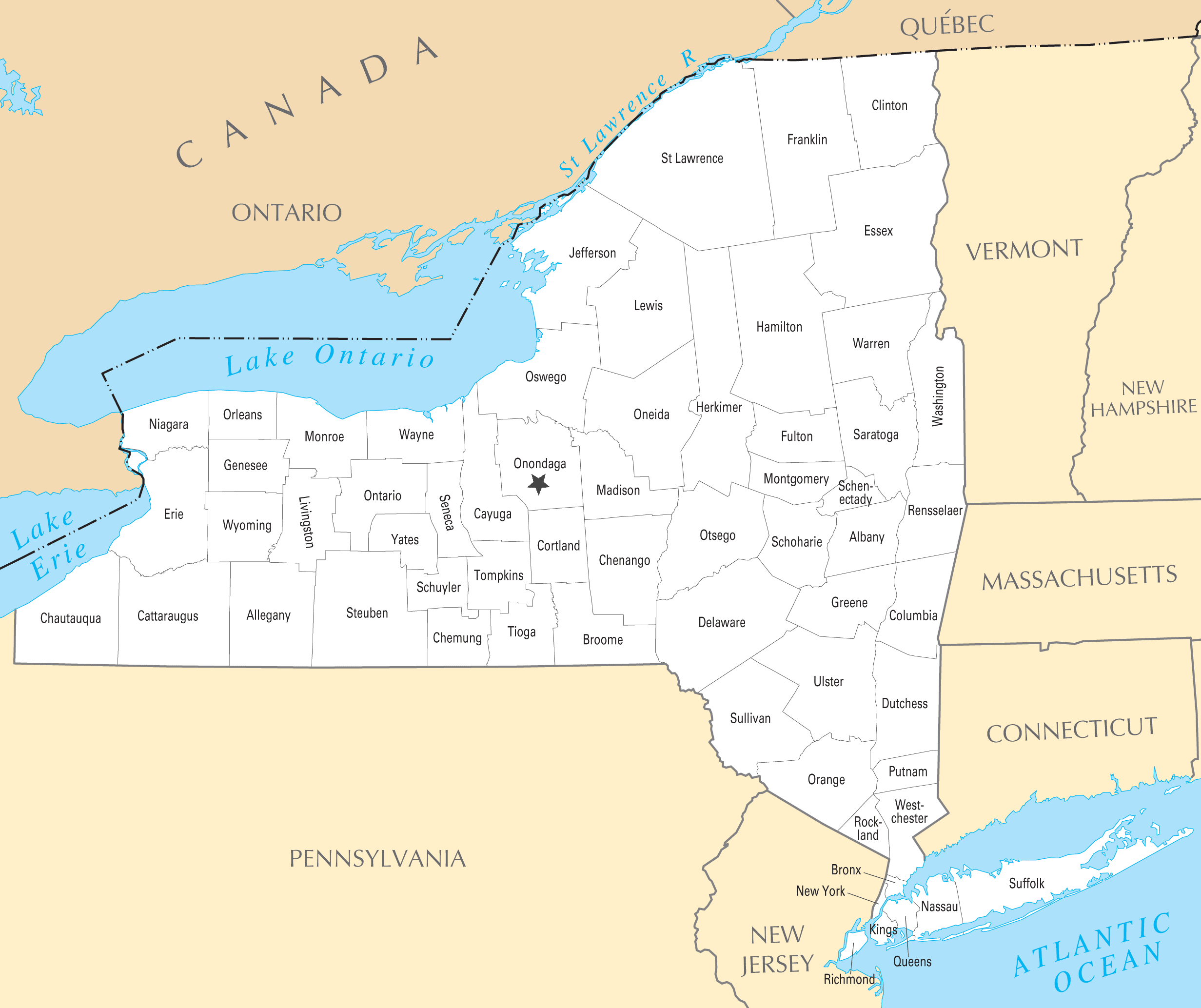 NY County Map